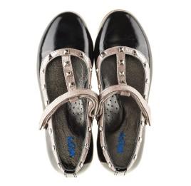 Детские туфлі Woopy Orthopedic черные для девочек натуральная лаковая кожа размер 26-26 (2256) Фото 5