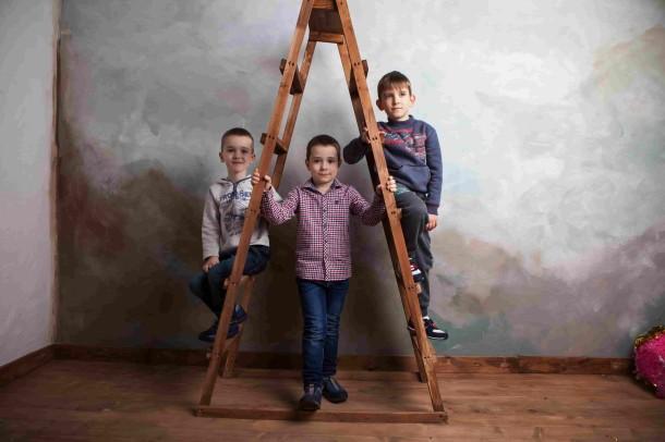 Мальчик обут в детские кеды Woopy Orthopedic синие (2258) Фото 2