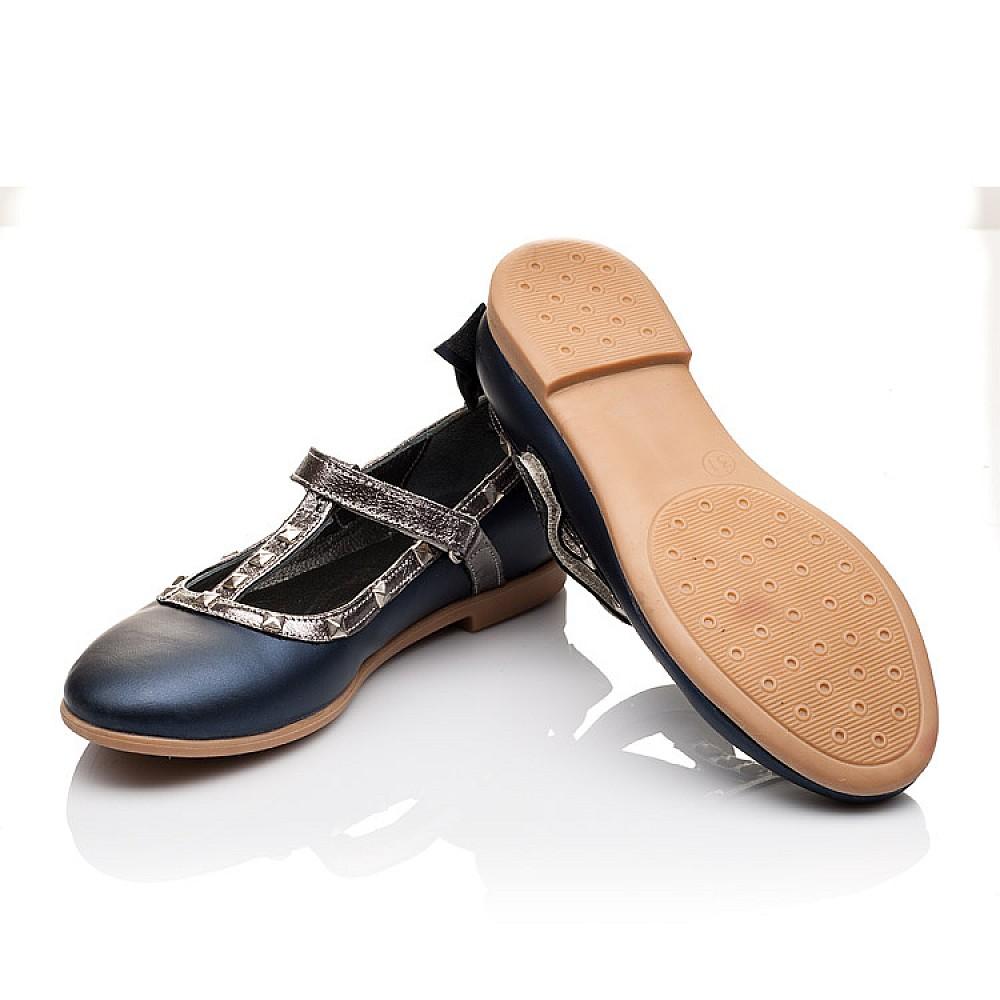 Детские туфли Woopy Orthopedic синие для девочек натуральная кожа размер 26-37 (2263) Фото 2
