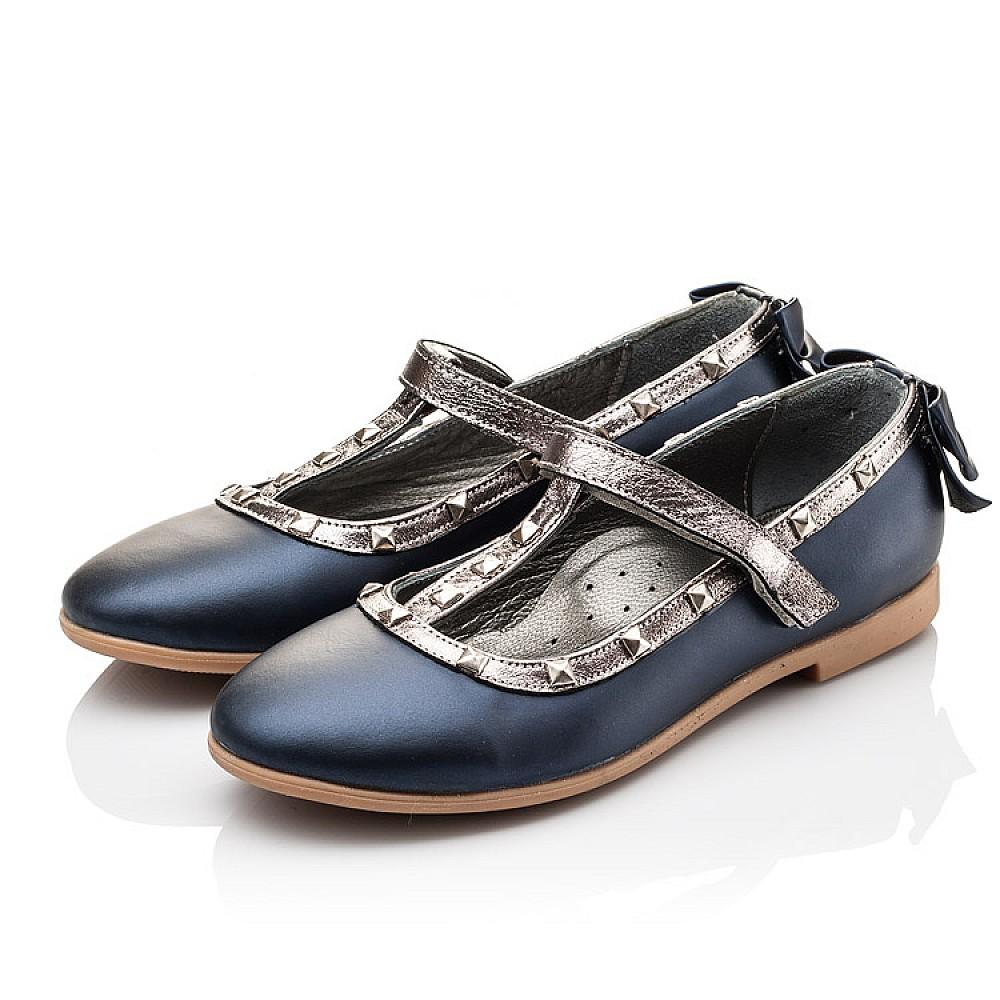 Детские туфли Woopy Orthopedic синие для девочек натуральная кожа размер 26-37 (2263) Фото 3