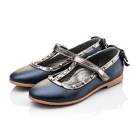 Детские туфлі Woopy Orthopedic синие для девочек натуральная кожа размер 26-26 (2263) Фото 3