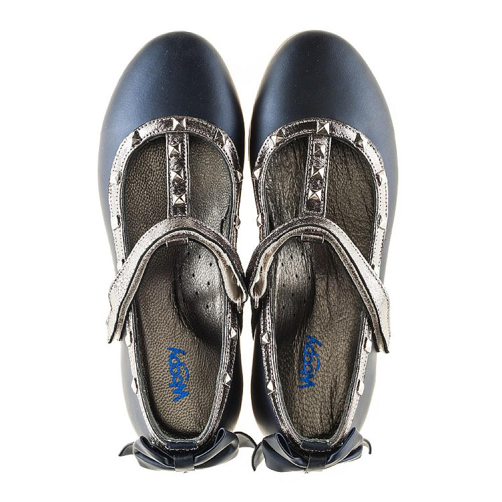 Детские туфли Woopy Orthopedic синие для девочек натуральная кожа размер 26-37 (2263) Фото 5