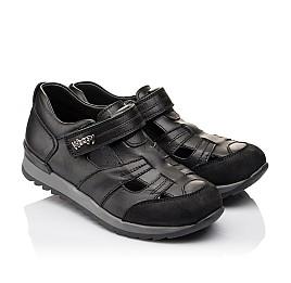 Детские кроссовки Woopy Orthopedic черные для мальчиков натуральная кожа размер - (2271) Фото 1