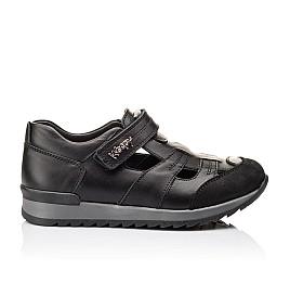 Детские кроссовки Woopy Orthopedic черные для мальчиков натуральная кожа размер - (2271) Фото 4