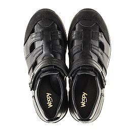 Детские кроссовки Woopy Orthopedic черные для мальчиков натуральная кожа размер - (2271) Фото 5