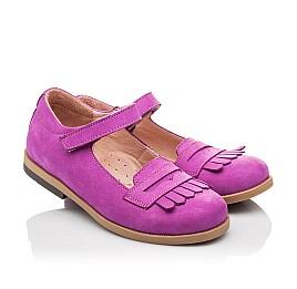 Детские туфли Bebbini фиолетовые для девочек натуральный нубук размер 26-26 (2274) Фото 1