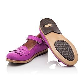 Детские туфли Bebbini фиолетовые для девочек натуральный нубук размер 26-26 (2274) Фото 2