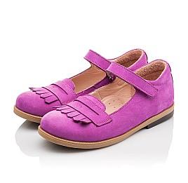 Детские туфли Bebbini фиолетовые для девочек натуральный нубук размер 26-26 (2274) Фото 3