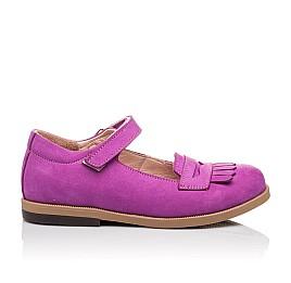 Детские туфли Bebbini фиолетовые для девочек натуральный нубук размер 26-26 (2274) Фото 4