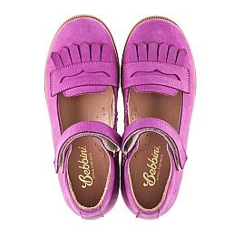 Детские туфли Bebbini фиолетовые для девочек натуральный нубук размер 26-26 (2274) Фото 5