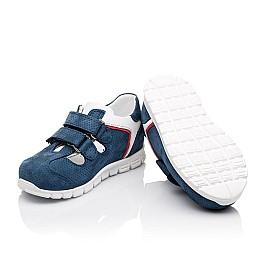 Детские кроссовки Woopy Orthopedic синие для мальчиков натуральный нубук размер - (2280) Фото 2