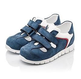 Детские кроссовки Woopy Orthopedic синие для мальчиков натуральный нубук размер - (2280) Фото 3