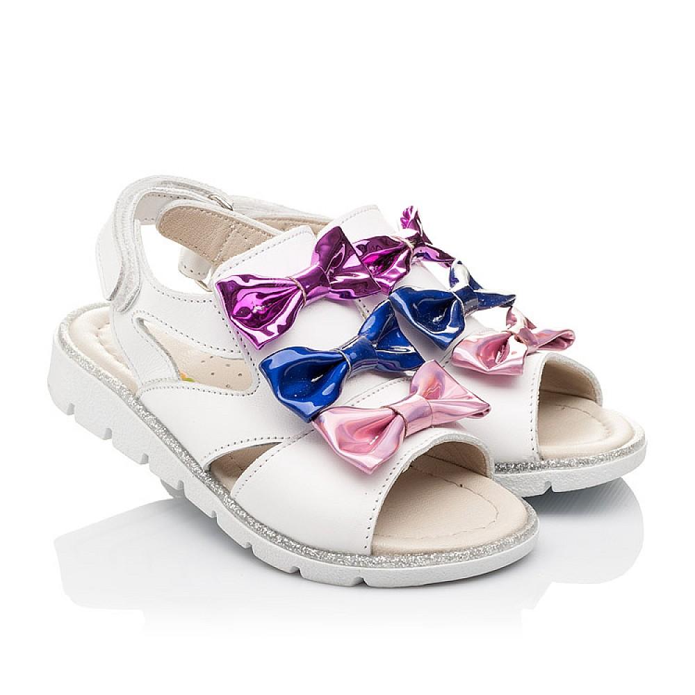 Детские босоножки Woopy Orthopedic белые,разноцветные для девочек натуральная кожа размер 21-33 (2291) Фото 1