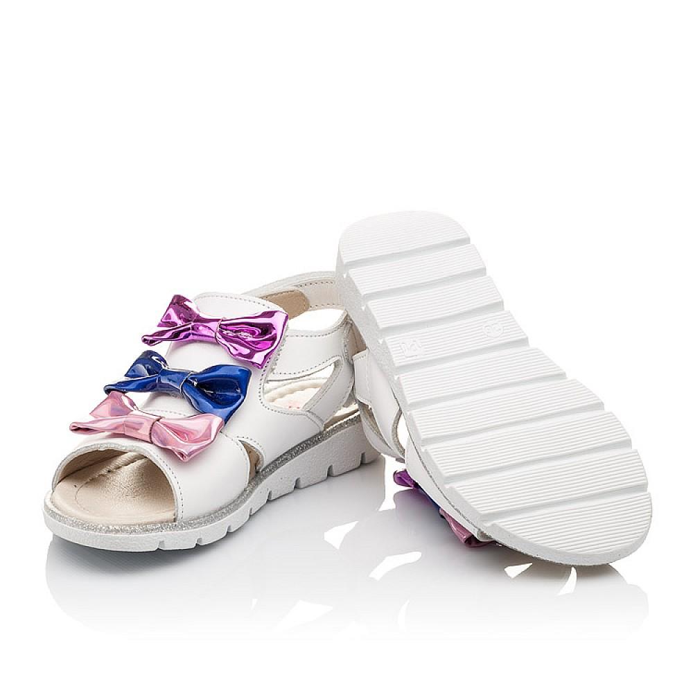Детские босоножки Woopy Orthopedic белые,разноцветные для девочек натуральная кожа размер 21-33 (2291) Фото 2