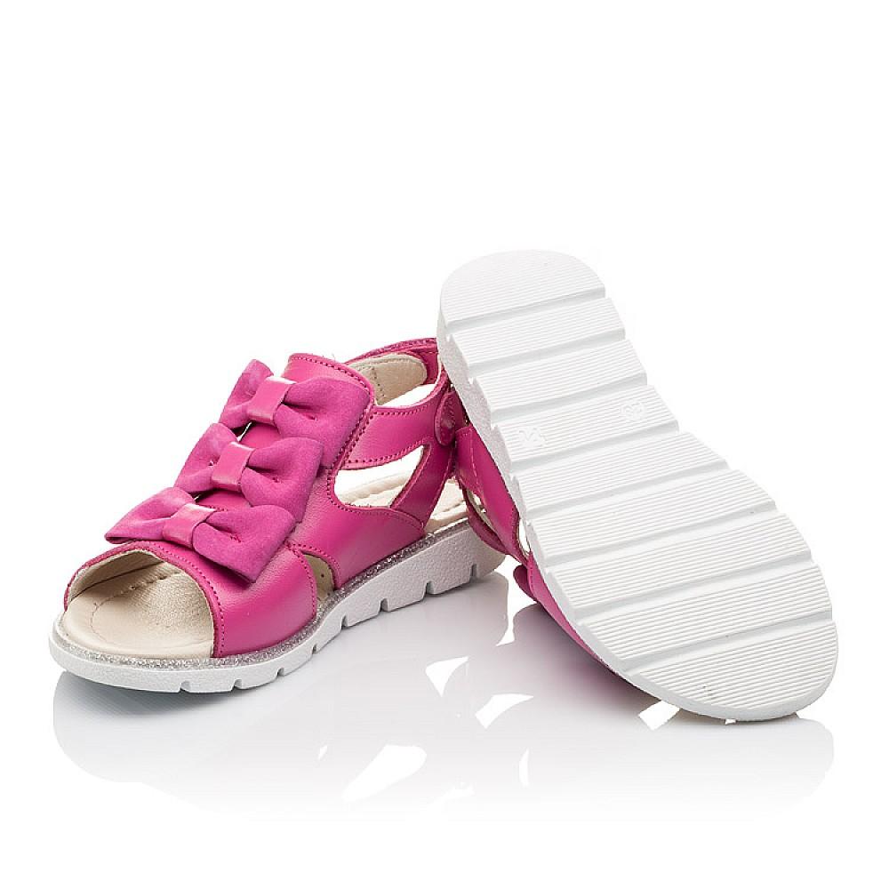 Детские босоножки Woopy Orthopedic розовые для девочек натуральная кожа размер 21-33 (2294) Фото 2