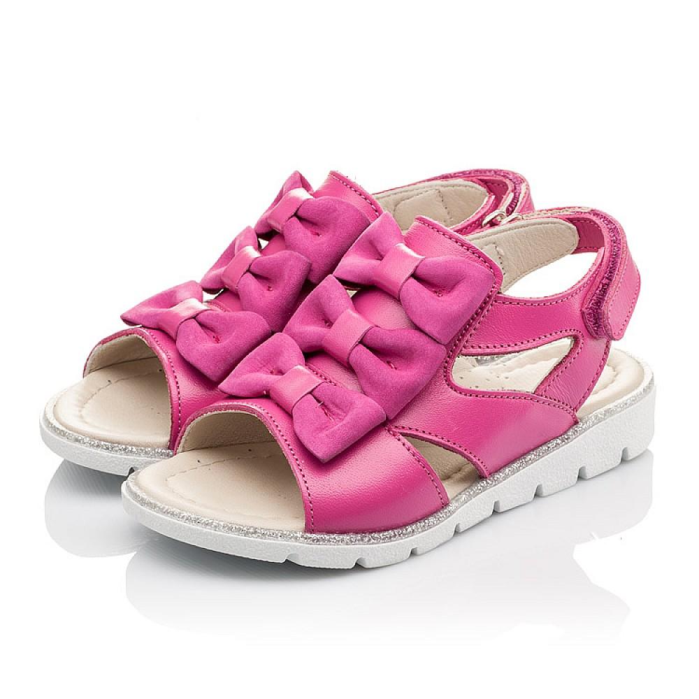 Детские босоножки Woopy Orthopedic розовые для девочек натуральная кожа размер 21-33 (2294) Фото 3