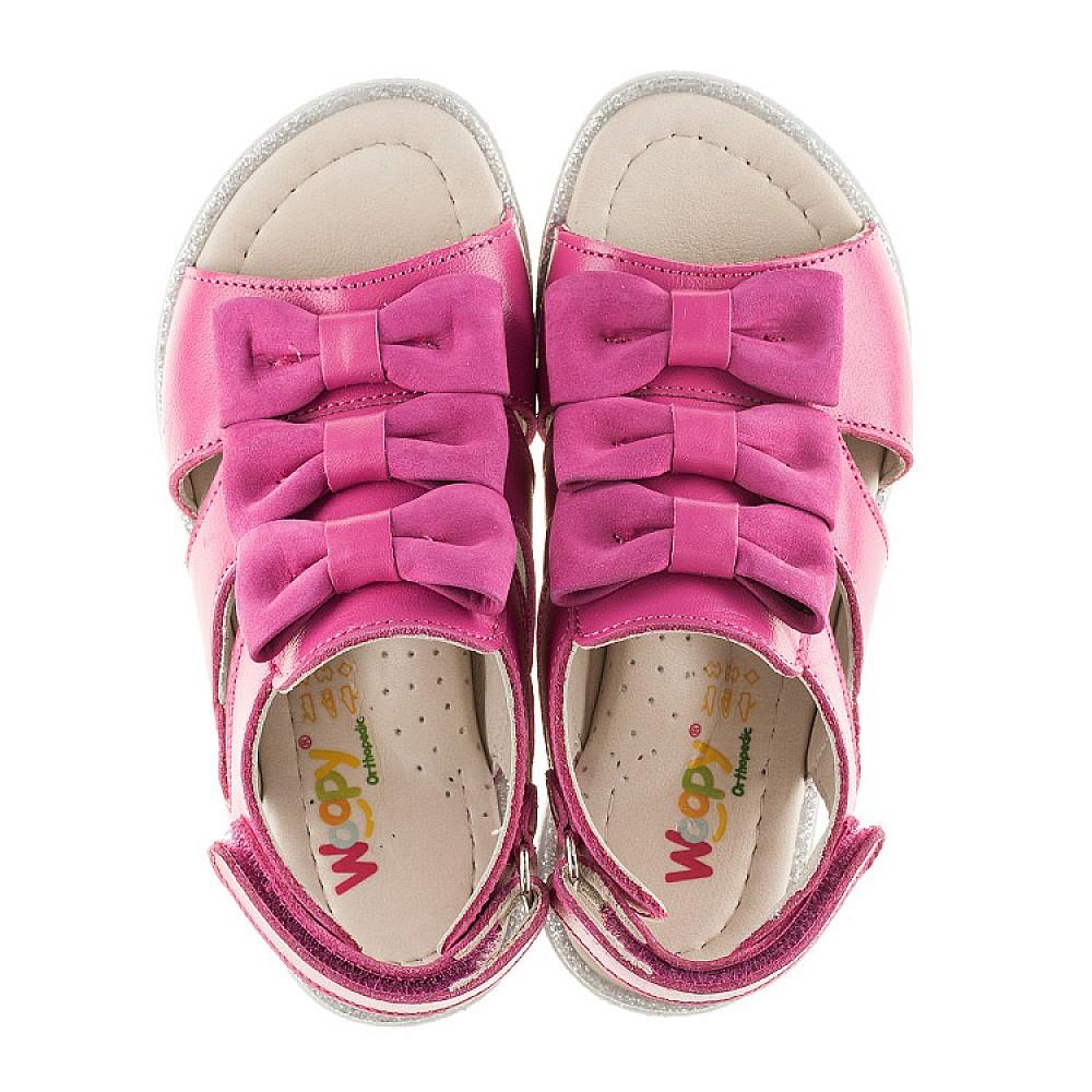 Детские босоножки Woopy Orthopedic розовые для девочек натуральная кожа размер 21-33 (2294) Фото 4