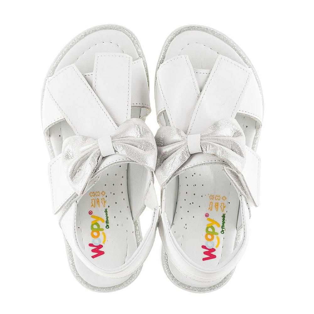 Детские босоножки Woopy Orthopedic белые для девочек натуральная кожа размер 26-36 (2295) Фото 5