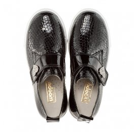 Детские туфли Woopy Orthopedic черный для девочек натуральная лаковая кожа размер - (2296) Фото 5