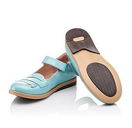 Детские туфли Bebbini бирюзовые для девочек натуральная лаковая кожа размер 24-26 (2299) Фото 2