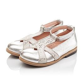 Детские туфли Bebbini серебряные для девочек натуральная кожа размер 21-22 (2301) Фото 4