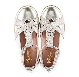 Детские туфли Bebbini серебряные для девочек натуральная кожа размер 21-22 (2301) Фото 6