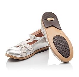 Детские туфли Bebbini серебряные для девочек натуральная кожа размер 21-22 (2301) Фото 7