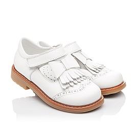 Детские туфли ортопедические Woopy Orthopedic белые для девочек натуральная кожа размер 28-28 (2302) Фото 1