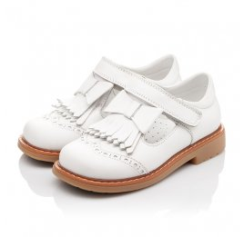 Детские туфли ортопедические Woopy Orthopedic белые для девочек натуральная кожа размер 28-28 (2302) Фото 2