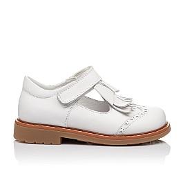 Детские туфли ортопедические Woopy Orthopedic белые для девочек натуральная кожа размер 28-28 (2302) Фото 3