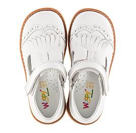 Детские туфли ортопедические Woopy Orthopedic белые для девочек натуральная кожа размер 28-28 (2302) Фото 4