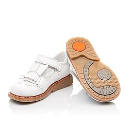 Детские туфли ортопедические Woopy Orthopedic белые для девочек натуральная кожа размер 28-28 (2302) Фото 5