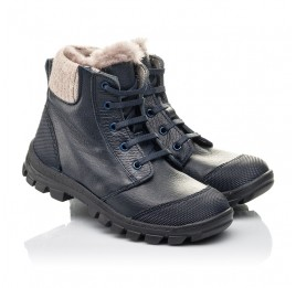 Детские зимові черевики на хутрі Woopy Fashion синие для мальчиков  натуральная кожа размер 28-40 (2504) Фото 1