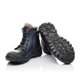 Детские зимние ботинки на меху Woopy Fashion синие для мальчиков  натуральная кожа размер 28-40 (2504) Фото 2