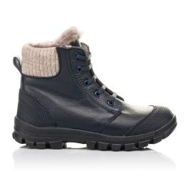 Детские зимние ботинки на меху Woopy Fashion синие для мальчиков  натуральная кожа размер 28-40 (2504) Фото 4