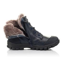 Детские зимние ботинки на меху Woopy Fashion синие для мальчиков  натуральная кожа размер 28-40 (2504) Фото 5