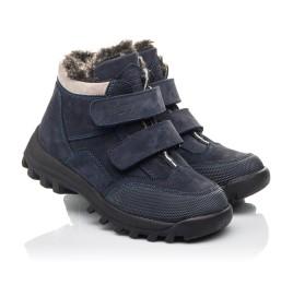 Детские зимние ботинки на меху Woopy Fashion синие для мальчиков натуральный нубук размер 22-39 (2505) Фото 1