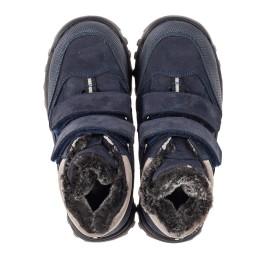 Детские зимние ботинки на меху Woopy Fashion синие для мальчиков натуральный нубук размер 22-39 (2505) Фото 5