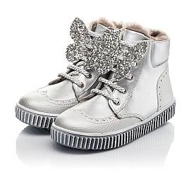 Детские зимние ботинки на меху Woopy Fashion серебряные для девочек  натуральная кожа размер 25-35 (2506) Фото 3