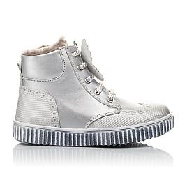 Детские зимние ботинки на меху Woopy Fashion серебряные для девочек  натуральная кожа размер 25-36 (2506) Фото 4