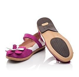 Детские туфли Bebbini розовые для девочек натуральный нубук размер 21-28 (3001) Фото 2