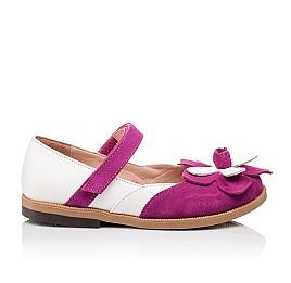 Детские туфли Bebbini розовые для девочек натуральный нубук размер 21-28 (3001) Фото 4