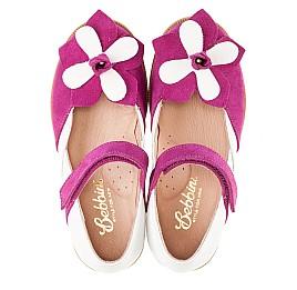 Детские туфли Bebbini розовые для девочек натуральный нубук размер 21-28 (3001) Фото 5
