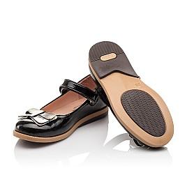 Детские туфли Bebbini черные для девочек натуральная лаковая кожа размер 26-26 (3005) Фото 2