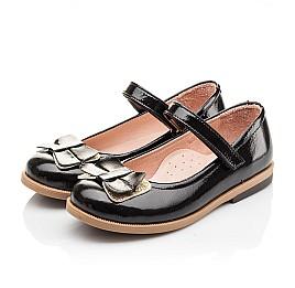 Детские туфли Bebbini черные для девочек натуральная лаковая кожа размер 26-26 (3005) Фото 3