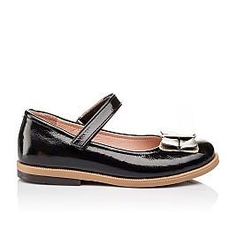 Детские туфли Bebbini черные для девочек натуральная лаковая кожа размер 26-26 (3005) Фото 4
