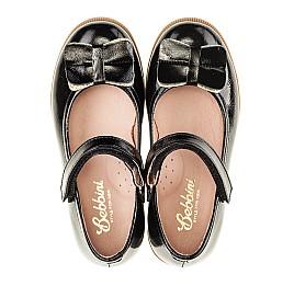 Детские туфли Bebbini черные для девочек натуральная лаковая кожа размер 26-26 (3005) Фото 5