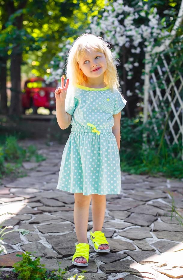 Девочка обута в детские босоножки Woopy Orthopedic желтые (3010) Фото 2