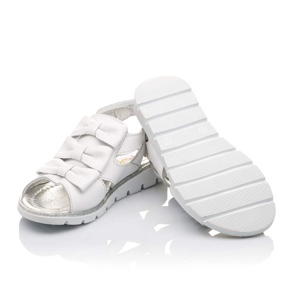 Детские босоножки Woopy Orthopedic белые для девочек натуральная кожа размер 21-36 (3011) Фото 2