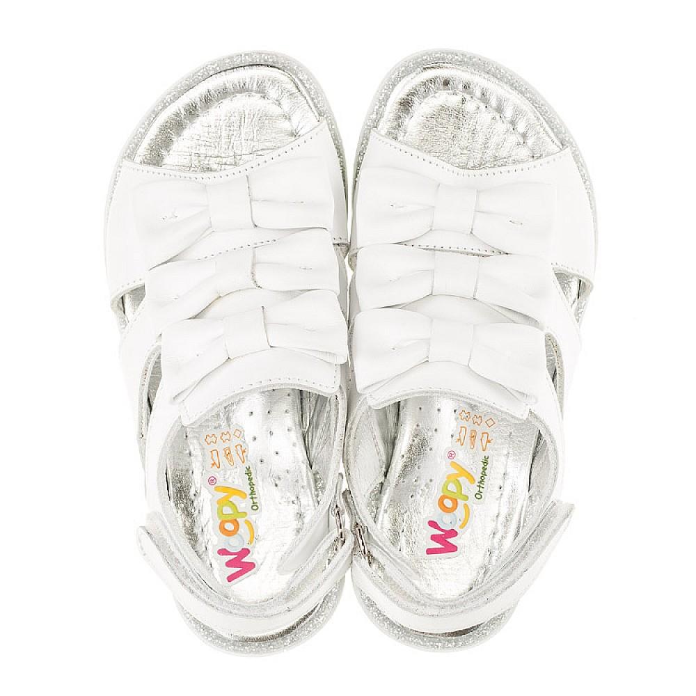 Детские босоножки Woopy Orthopedic белые для девочек натуральная кожа размер 21-36 (3011) Фото 5